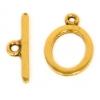 Toggle Plain Oval Antique Gold 13mm